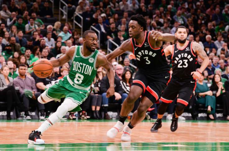Boston Celtics Vs Toronto Raptors # 8 going in fo the shot