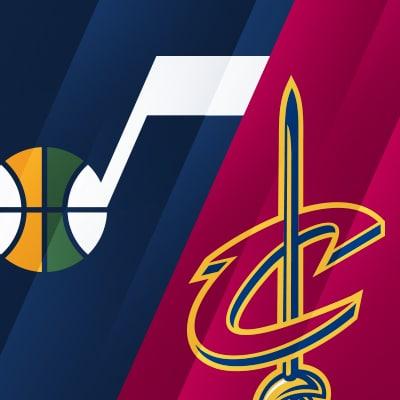Utah Jazz vs Cleveland Cavaliers logo NCAA basketball