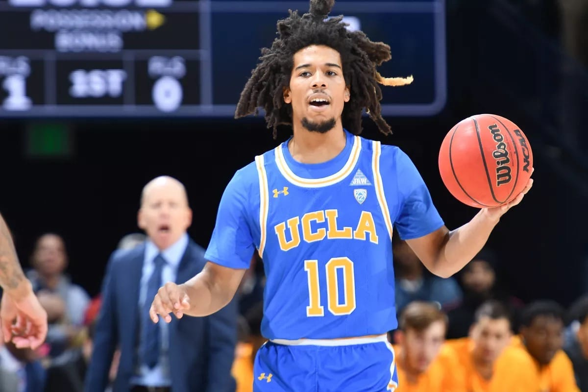 UCLA #10 showing off Vs California