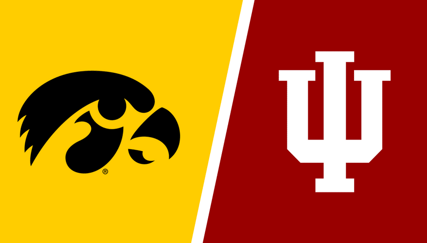 Indiana vs Iowa logo image