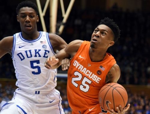 duke vs syracuse basketball 2021 fighting it out underneath the hoops