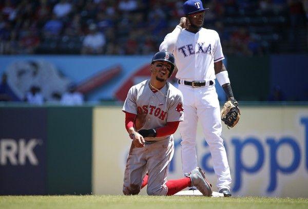 Boston Red Sox vs. Texas Rangers baseball game.