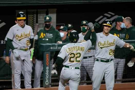 OAKLAND ATHLETICS vs. BALTIMORE ORIOLES game played on April 25, 2021