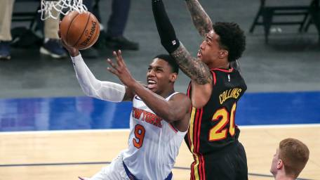 New York Knicks vs. Atlanta Hawks basketball game