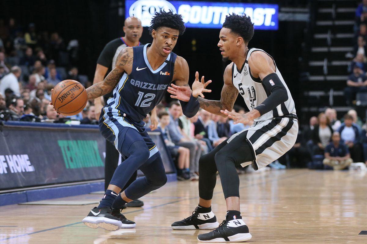 San Antonio Spurs vs. Memphis Grizzlies basketball game.
