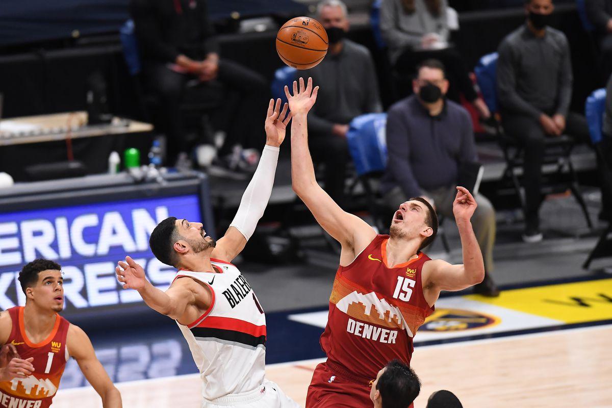 Portland Trail Blazers vs. Denver Nuggets basketball game.